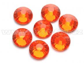 celobroušené hot-fix kameny Premium barva 104 Orange, velikost SS30, balení 144ks, 720ks nebo 1440ks