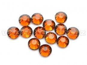 celobroušené hot-fix kameny Premium barva 108 Topaz tmavý, velikost SS16, balení 144ks, 720ks nebo 1440ks