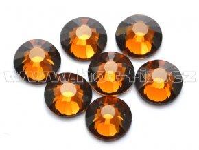 celobroušené hot-fix kameny Premium barva 108 Topaz tmavý, velikost SS30, balení 144ks, 720ks nebo 1440ks