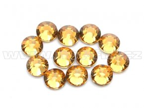celobroušené hot-fix kameny Premium barva 110 Lt. Colorado Topaz, velikost SS16, balení 144ks, 720ks nebo 1440ks