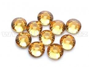 celobroušené hot-fix kameny Premium barva 110 Lt. Colorado Topaz, velikost SS20, balení 144ks, 720ks nebo 1440ks