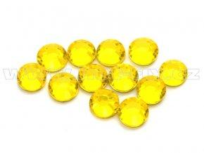 celobroušené hot-fix kameny Premium barva 112 Citrine, velikost SS16, balení 144ks, 720ks nebo 1440ks