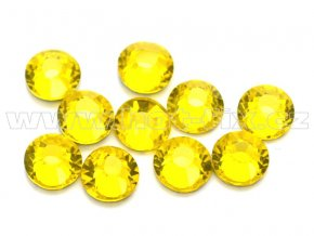 celobroušené hot-fix kameny Premium barva 112 Citrine, velikost SS20, balení 144ks, 720ks nebo 1440ks