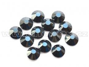 celobroušené hot-fix kameny Premium barva 127 DK Jet hematite, velikost SS16, balení 144ks, 720ks nebo 1440ks