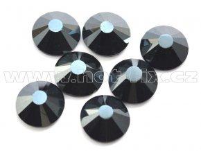 celobroušené hot-fix kameny Premium barva 127 DK Jet hematite, velikost SS30, balení 144ks, 720ks nebo 1440ks