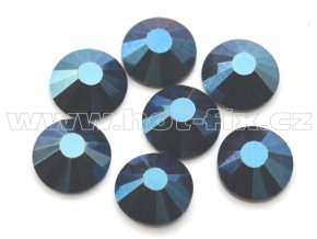 celobroušené hot-fix kameny Premium barva 130 Blue hematite, velikost SS30, balení 144ks, 720ks nebo 1440ks