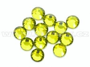 celobroušené hot-fix kameny Premium barva 134 Olivín, velikost SS16, balení 144ks, 720ks nebo 1440ks
