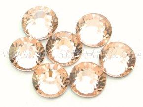 celobroušené hot-fix kameny Premium barva 190 Lt. Peach, velikost SS30, balení 144ks, 720ks nebo 1440ks
