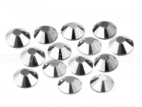 CBP 310 Silver Hematite velikost SS16 hot fix kameny na textil celobroušené Premium