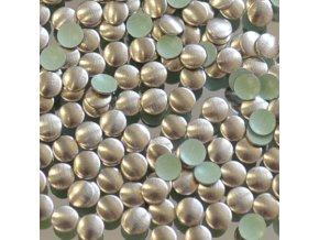 kovové hot-fix kameny barva 08 bronz mat velikost 3mm, balení 100 nebo 500ks