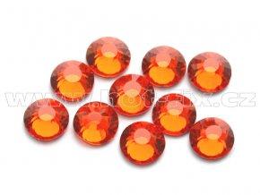 hot-fix celobroušené kameny Premium barva CBP/104 Orange, sada 4x144ks