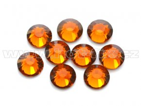hot-fix celobroušené kameny Premium barva CBP/108 Topaz tmavý, sada 4x144ks