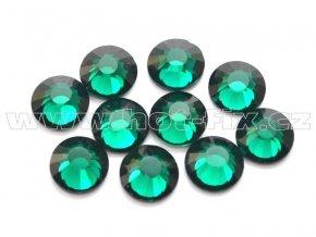 hot-fix celobroušené kameny Premium barva CBP/115 Emerald, sada 4x144ks