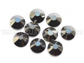 hot-fix celobroušené kameny Premium barva CBP/125 Jet hematite, sada 4x144ks