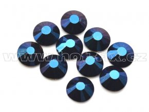 hot-fix celobroušené kameny Premium barva CBP/130 Blue hematite, sada 4x144ks