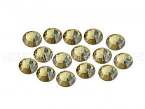 CBEP 1313 Gold crystal velikost SS16 hot fix kameny na textil celobroušené Premium Extra B