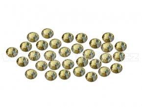 CBEP 1313 Gold crystal velikost SS06 hot fix kameny na textil celobroušené Premium Extra B
