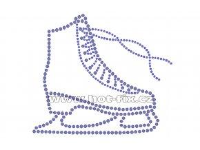 C131 brusle hot fix nažehlovací potisk na tričko, textil pro krasobruslaře hot fix kamínky