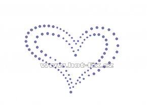 SB007 srdce hot fix nažehlovací potisk na textil, tričko hot fix kameny