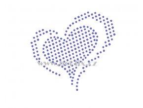 SB010 srdce hot fix nažehlovací potisk na textil, tričko hot fix kameny