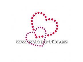 SB019 srdíčka nažehlovací potisk na textil hot fix kamínky
