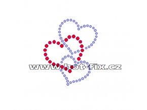 SB025 srdíčka nažehlovací potisk na textil hot fix kamínky