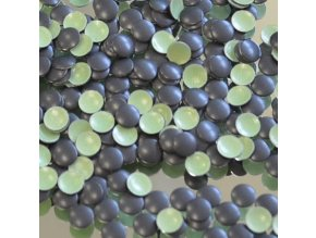 kovové hot-fix kameny barva 31 černá mat velikost 3mm, balení 100 nebo 500ks