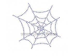 S009 pavučina nažehlovací potisk na tričko, textil hot fix kamínky na textil
