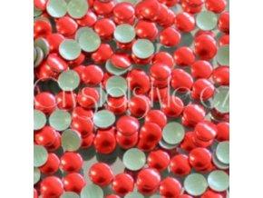kovové hot-fix kameny barva 32 červená velikost 3mm, balení 100 nebo 500ks