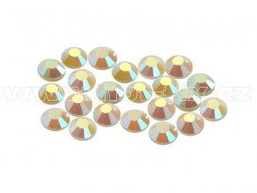 CBEP 1237 AB Pearl velikost SS10 hot fix kameny na textil celobroušené Premium Extra