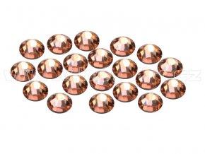 CBEP 1302 Apricot velikost SS10 hot fix kameny na textil celobroušené Premium Extra B