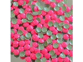 kovové hot-fix kameny barva 1002 FLUO LUMI RŮŽOVÁ velikost 2mm, balení 100 nebo 500ks
