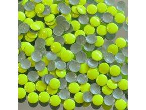 kovové hot-fix kameny barva 1001 FLUO LUMI ŽLUTOZELENÁ velikost 4mm, balení 100 nebo 500ks