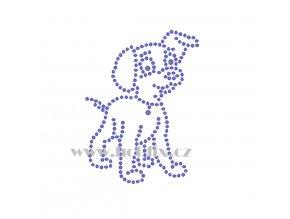 ZP025 pes nažehlovací potisk na tričko, textil hot fix kameny