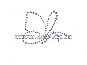 ZM007 motýl nažehlovací potisk na textil hot fix kamínky