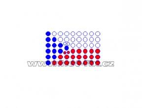 SX011 státní vlajka ČR nažehlovací potisk na tričko, textil hot fix kameny