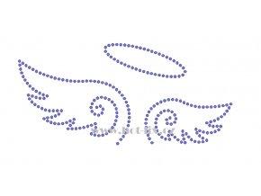 SD002 angel anděl kamínková nažehlovací aplikace na textil hot fix kamínky
