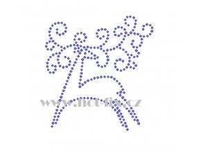 ZN002 jelen nažehlovací potisk na textil hot fix kamínky