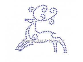 ZN004 jelen hot fix nažehlovací potisk na textil hot fix kamínky