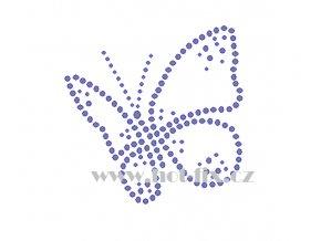 ZM039 motýl hot fix nažehlovací aplikace na tričko, textil hot fix kamínky