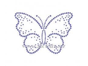 ZM019 motýl hot fix nažehlovací potisk na tričko, textil hot fix kamínky