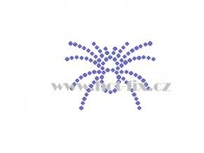 ZL009 verze A pavouk nažehlovací kamínkový potisk na tričko, textil hot fix kamínky