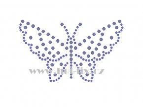 ZM042 motýl hot fix nažehlovací aplikace na tričko, textil hot fix kamínky