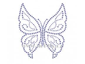 ZM001 motýl nažehlovací potisk na textil hot fix kamínky