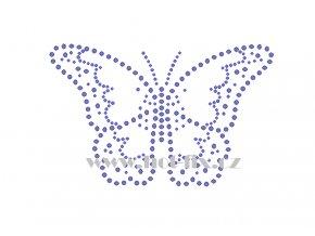 ZM043 motýl nažehlovací potisk na tričko, textil hot fix kamínky