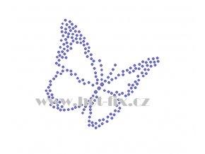 ZM044 motýl hot fix nažehlovací aplikace na tričko, textil hot fix kamínky