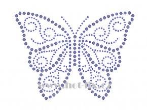 ZM045 motýl nažehlovací potisk na tričko, textil hot fix kamínky