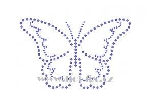 ZM046 motýl hot fix nažehlovací aplikace na tričko, textil hot fix kamínky