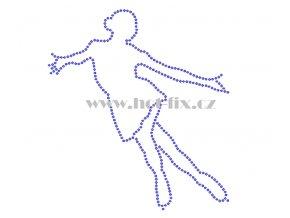 C146 krasobruslařka krasobruslařka hot fix nažehlovací potisk na tričko, textil pro krasobruslaře hot fix kamínky