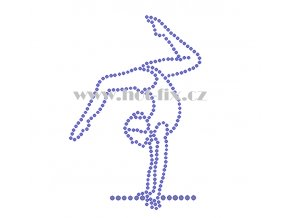C148 gymnastka nažehlovací kamínkový potisk na tričko, textil skleněné hot fix kamínky